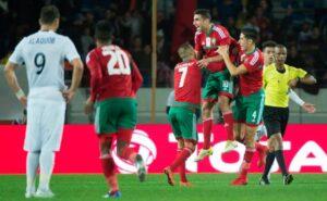 المنتخب الوطني يهزم زامبيا ويضرب موعدا مع الكاميرون في نصف النهائي