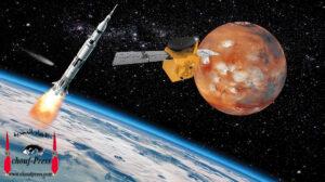 نجاح  الإمارات في ارسال مسبار الامل إلى كوكب المريخ